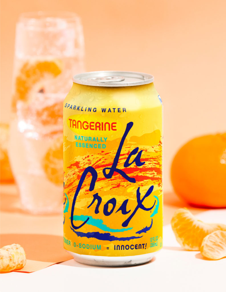 Natural LaCroix Tangerine Sparkling Water