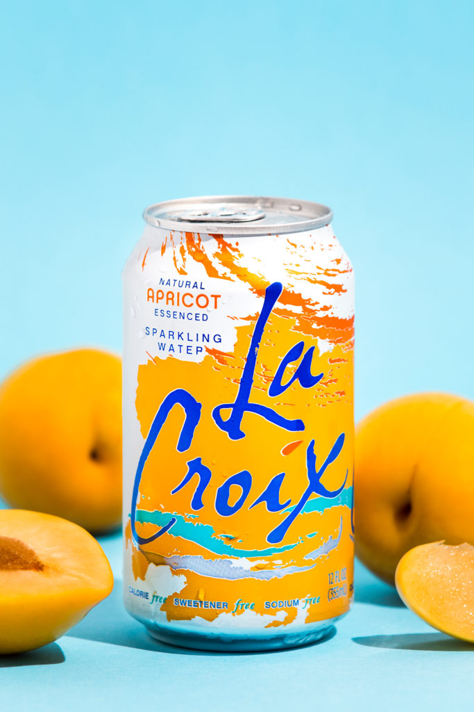Natural LaCroix Apricot Sparkling Water