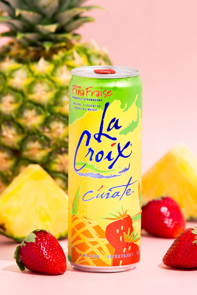 Natural LaCroix Piña Fraise Sparkling Water