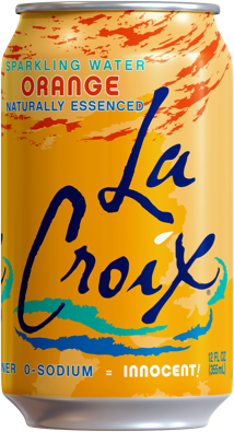 Natural LaCroix Orange Sparkling Water