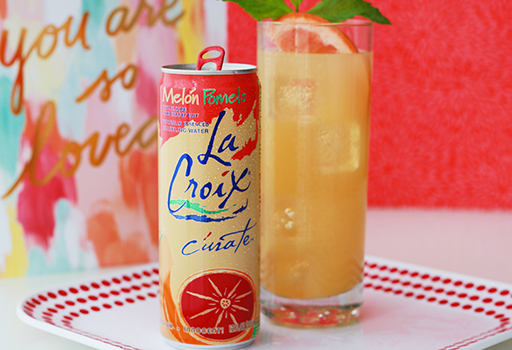 Grapefruit Pear Sparkler with LaCroix Sparking Water
