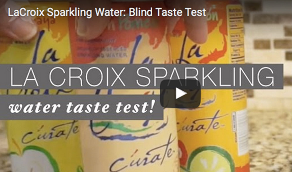 She Speaks Does a Blind Taste Test With LaCroix