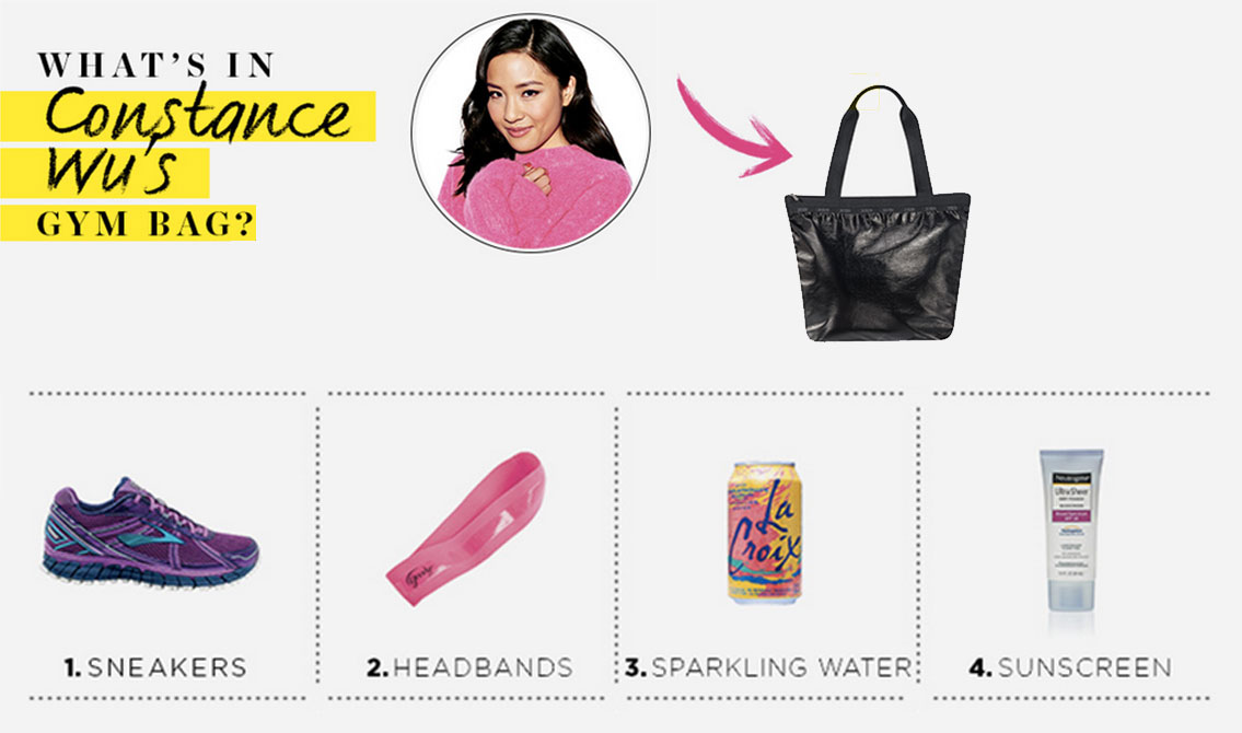What Fresh Off the Boat star Constance Wu Keeps in Her Gym Bag