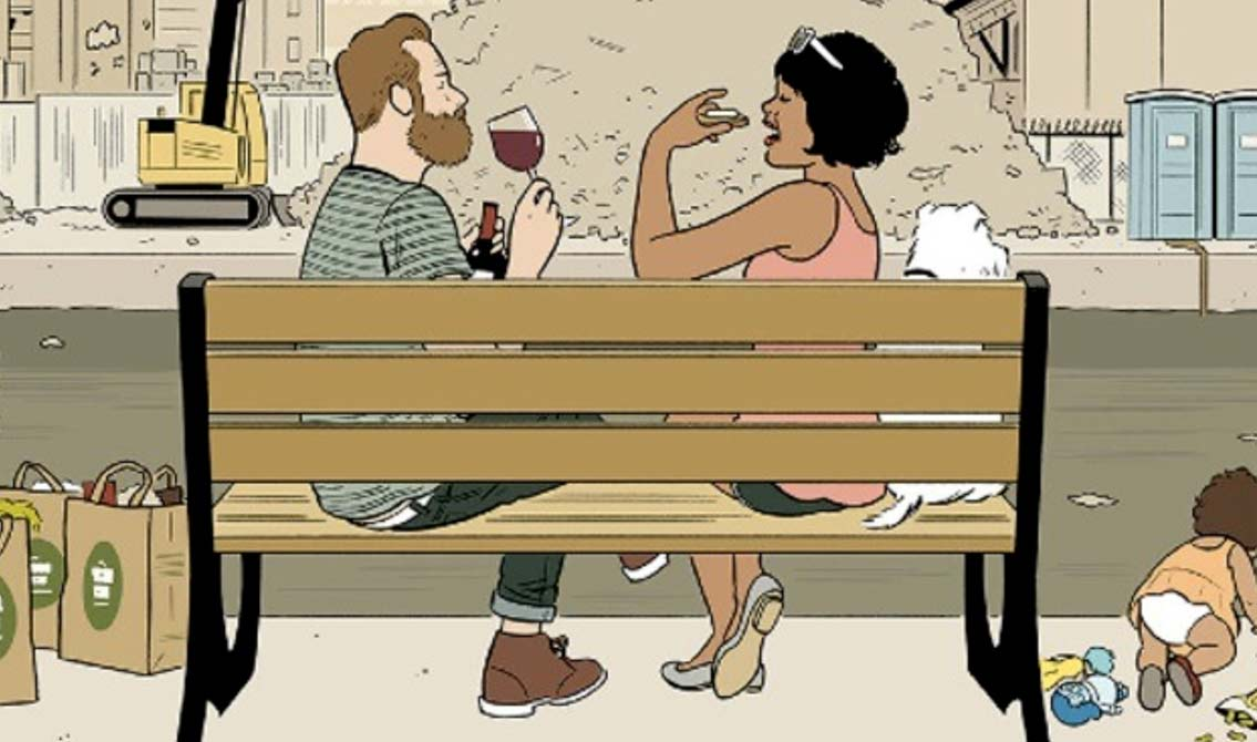 Artist Adrian Tomine regrets not adding LaCroix cans to that Gowanus New Yorker cover
